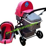 Carucior nou nascut 3 in 1 Baby Care YK 18-19 Roz